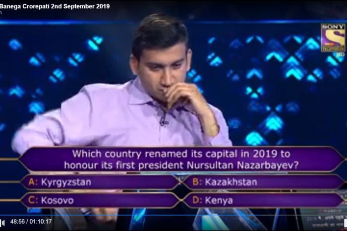 Назарбаев туралы сұрақ шетелдікке 20 мың доллар ұтып алуға көмектесті