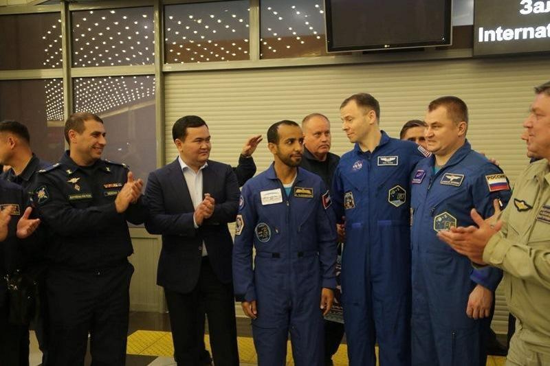 Байқоңырдан ұшқан тұңғыш араб ғарышкері Жезқазғанға қонды (ФОТО)