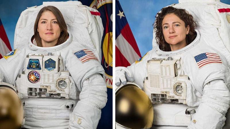 Әлем тарихында алғаш рет екі әйел ашық ғарышқа шықты