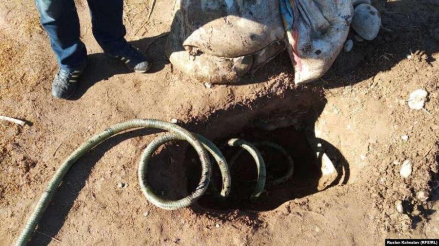 Қазақстаннан Қырғызстанға мұнай өнімдерін заңсыз тасымалдаған құбыр табылды